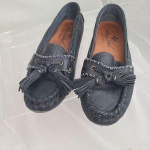 Patricia Nash Domenica Navy Blue Tasseled Loafer